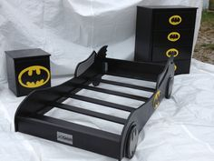 3 piece full size batmobile bed set