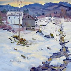 January 13, 2013 Winter Thaw Painting in Jeffersonville, Vermont! | Plein Aire in Maine