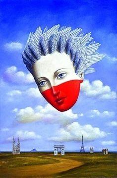 Rafał Olbiński, Sezon Polski we Francji / Polish Season in France on ArtStack #rafal-olbinski-1 #art