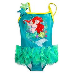Disney Store Princess The Little Mermaid Ariel Girl One Piece Swimsuit 56 >>> Continue to the product at the image link.