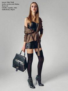 Lace, Leather, Tops, Women, Fashion, Moda, Fashion Styles, Racing, Fashion Illustrations