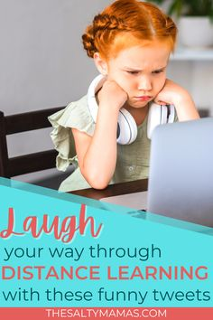 Suffering through distance learning? Us too! You might as well commiserate with these other parents who are on the struggle bus, but finding something to laugh about! First Day Of School, Back To School, Mommy Humor, Class Teacher, Scary Mommy, Beatles Songs, School Opening, School Looks, Common Core Math