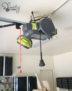 The Ryobi Ultra-Quiet Garage Door Opener is the basis of a—wait for it—garage entertainment system. A built-in Wi-Fi antenna allows it to communicate with an iOS and Android app, because this is 2016 and a garage door opener needs a mobile app. Firing up Garage Tools, Garage Shop, Diy Garage, Garage Workshop, Garage Storage, Garage Ideas, Garage Organization, Door Ideas, Quiet Garage Door Opener