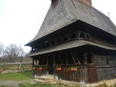 Surdesti wooden Church- traditional stoop. Maramures