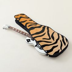 Faux Tiger Print Guitar Case - home gifts ideas decor special unique custom individual customized individualized