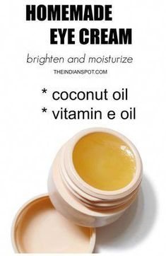 Natural Eye Cream, Anti Aging Eye Cream, Natural Eyes, Natural Skin Care, Homemade Eye Cream, Homemade Scrub, Home Remedies For Hair, Natural Beauty Tips, Homemade Beauty Products