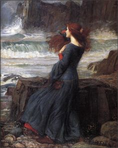 Miranda The Tempest ~ John William Waterhouse ~ (English: 1849-1917) | Pre Raphaelite Art