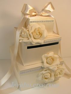 Items similar to Wedding Card Box Ivory Gift Card Box Money Box Holder--Special Custom order.Customize your color on Etsy Wedding Gift Card Box, Gift Card Boxes, Wedding Boxes, Wedding Crafts, Diy Wedding, Wedding Decorations, Wedding Ideas, Money Cards, Money Box