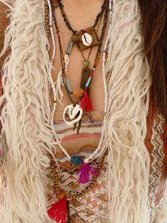 Boho festival Glass beads Necklace Bracelet/ Tribal/ by Temple33