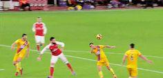 Olivier Giroud's scorpion kick goal against Crystal Palace (01.01.2017). #AFCvCPFC #ARSCRY #Arsenal #COYG #OlivierGiroud