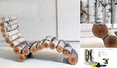 40 DIY Log Ideas Take Rustic Decor To Your Home I'd be happy to have about 35 of these at home lol
