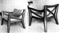Silla totonaca, diseño de Clara Porset en la década de 1950 -   Totonaca chair design of Clara Porset in the 1950's