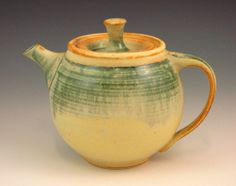 Stoneware Teapot by ShellyGreenStoler on Etsy. Teapots, Hot Chocolate, Tea Time, Stoneware, Ash, Glaze, Canning, Coffee, Tableware