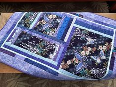 Beautiful Purple Butterfly Quilted Wall Hanging, Butterfly Wall Decor, Art Quilt for Display Butterfly Quilt, Butterfly Wall Decor, Purple Butterfly, Dog Quilts, Baby Boy Quilts, Fiber Art Quilts, Batik Quilts, Quilted Table Toppers, Green Quilt