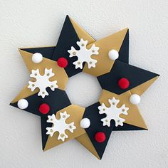 Like Making Arts And Crafts? Read Here To Make Making Things Easier - Diy Crafts Christmas Origami, Kids Christmas, Christmas Crafts, Christmas Decorations, Christmas Ornaments, Holiday Decor, Easy Diy Crafts, Handmade Crafts, Home Crafts