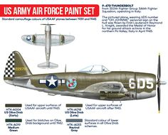 Republic P-47 Thunderbolt US Army Air Force paint set | Hataka ~ BFD