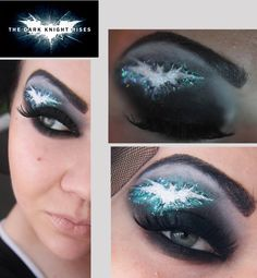 Eye Makeup Designs For Geeks: I know it says dark night rises but it looks like she has a crack in the universe in her head... Thanks Doctor