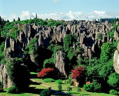 Summertime View of Unesco site the Stone Forest, Kunming, Yunnan