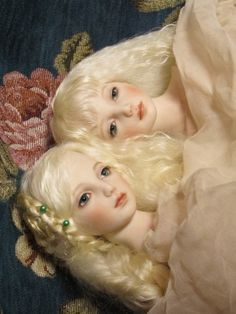 """Solitude"", bisque porcelain dolls by Yumi Urano..."