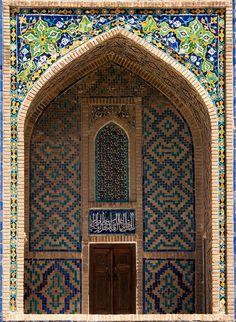 tilya-kori madrasah, the registan, samarqand, uzbekistan Islamic Architecture, Beautiful Architecture, Beautiful Buildings, Art And Architecture, Architecture Details, Islamic Patterns, Islamic Designs, Beautiful Mosques, Unique Doors