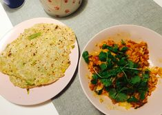 Coriander, chilli and ginger butter chicken and leek flatbreads