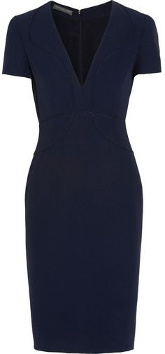 Alexander McQueen Piped crepe dress  love, love love this dress.....s