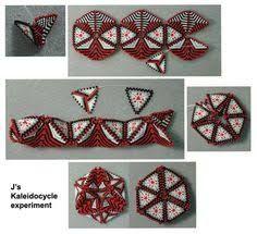 Bildergebnis für how to make a beaded kaleidocycle