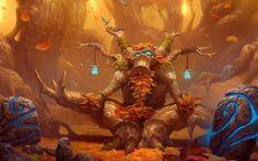 World Of Warcraft Druid Trees Forest Orange Hd Online   Wallpaper