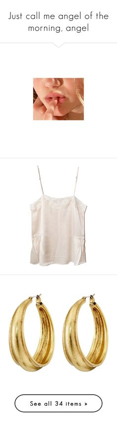 """""""Just call me angel of the morning, angel"""" by beeanchorr ❤ liked on Polyvore featuring pictures, tops, tank tops, tanks, shirts, pink lace camisole, lace camis, lacy cami, pink lace cami and lacy camisole"""