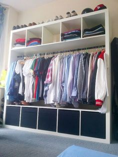 The IKEA Kallax series Storage furniture is an essential section of any home. They supply get and allow you to keep track. Stylish and wonderfully simple the shelf Kallax from Ikea , for example. Ikea Storage, Storage Hacks, Bedroom Storage, Storage Ideas, Ikea Hack Bedroom, Laundry Storage, Laundry Room, Ikea Regal Expedit, Kallax Regal