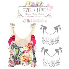 Sophia lingerie Sewing Pattern PDF instant by EvielaLuveDIY