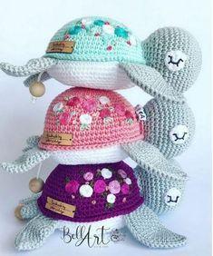 Crochet Turtle Pattern Free, Crochet Amigurumi Free Patterns, Crochet Animal Patterns, Free Crochet, Stuffed Animal Patterns, Crochet Gifts, Crochet For Kids, Crochet Dolls, Crochet Animals