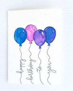Happy Birthday Card Blue Pink More