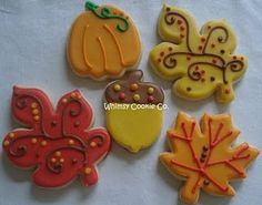 These are beautiful fall cookies and look like something Katy would make :)