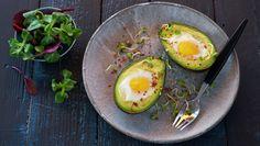 Avocado fylt med egg