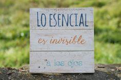 Lo esencial es invisible a los ojos Azul, Naranja y Verde Hielo