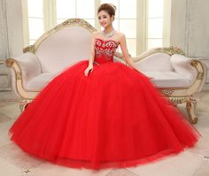 sur 2015 robe de mariée nouvelle princesse coréenne robe tutu rouge ...