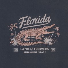 Florida Tribute by Travis Pietsch Pineapple Pictures, Badge Logo, Retro Logos, Badge Design, Naive Art, Design Reference, Graphic Design Inspiration, Branding Design, Illustration Art