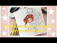 Kolorowanie stempli promarkerami Winsor&Newton - część 1Twarz Coloring Magnolia stamp with promarkers Face