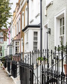 Colorful houses in Chelsea, London   #chelsea #london #houses #uk