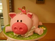 Truly Designer cakes. Best pig cake yet. Too bad they are so far away.