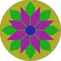 Gran variabel de figuras para mochilas wayuu originales - Crochet Paso a Paso - Tapestry Crochet Patterns, Crochet Flower Patterns, Crochet Motif, Beading Patterns, Crochet Pencil Case, Mochila Crochet, Crochet Sunflower, Beaded Banners, Bag Pattern Free
