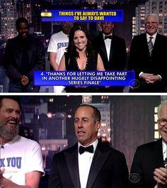 Julia Louis-Dreyfus Won the final episode of David Letterman