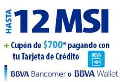 Walmart cupón de $700 y hasta 12 MSI con BBVA Bancomer