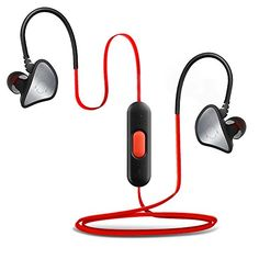 Bluetooth Headset Maxbo InEar Headphones Wireless Bluetooth SportRunning Stereo with Noise Cancelling Earphones Earbuds BlackRed *** You can find more details by visiting the image link.(This is an Amazon affiliate link and I receive a commission for the sales) #RunningElectronicsGadgets