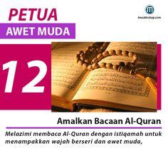 10 Petua Awet Muda #sebarkanmanfaat #Imuslimshop #PhotoViral #PetuaawetMuda Doa Islam, Allah Islam, Islam Quran, Pray Quotes, Qoutes, Muslim Quotes, Islamic Quotes, Healthy Beauty, Healthy Life