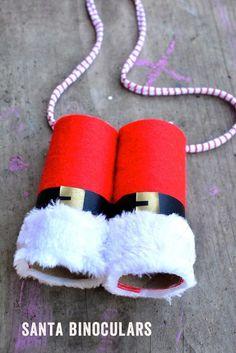 Santa Claus binoculars