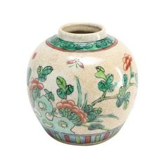 Floral Design Asian Vase ($38) ❤ liked on Polyvore featuring home, home decor, vases, fillers, vase, leaf vase, asian vase, floral vases, oriental vases and butterfly home decor