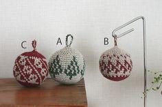 クリスマスボール3種_かぎ針編み