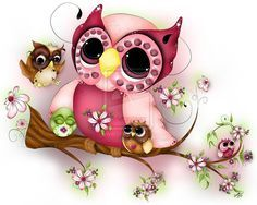 Owl (and other super cute animal illustrations) by a team of Chinese artists Yang Xue and Chen Xi, also known as Xue Wawa. Description from pinterest.com. I searched for this on bing.com/images
